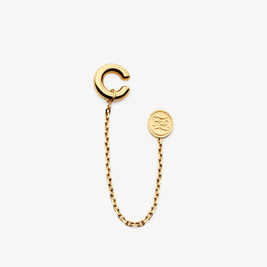 FENDI KARLIGRAPHY EARRING - Gold-color earring - view 1 detail