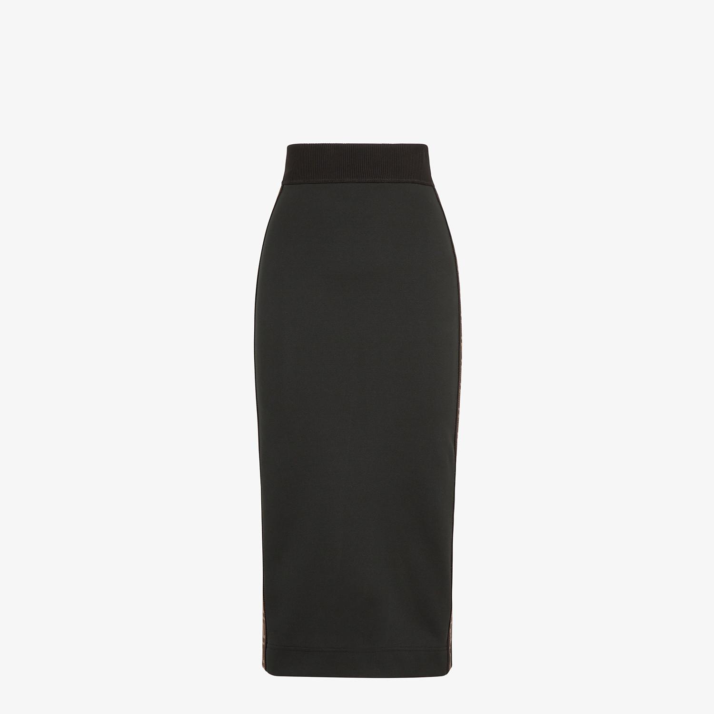 FENDI SKIRT - Black piqué skirt - view 1 detail