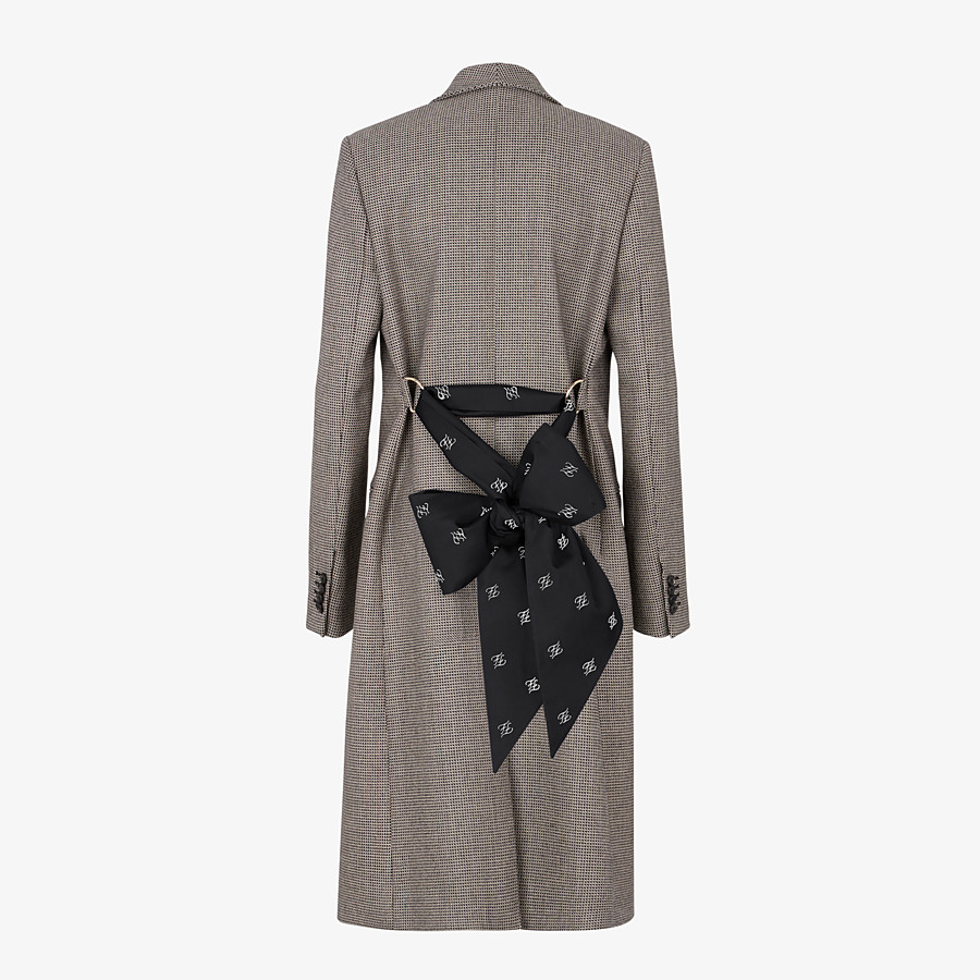 FENDI COAT - Brown wool coat - view 2 detail