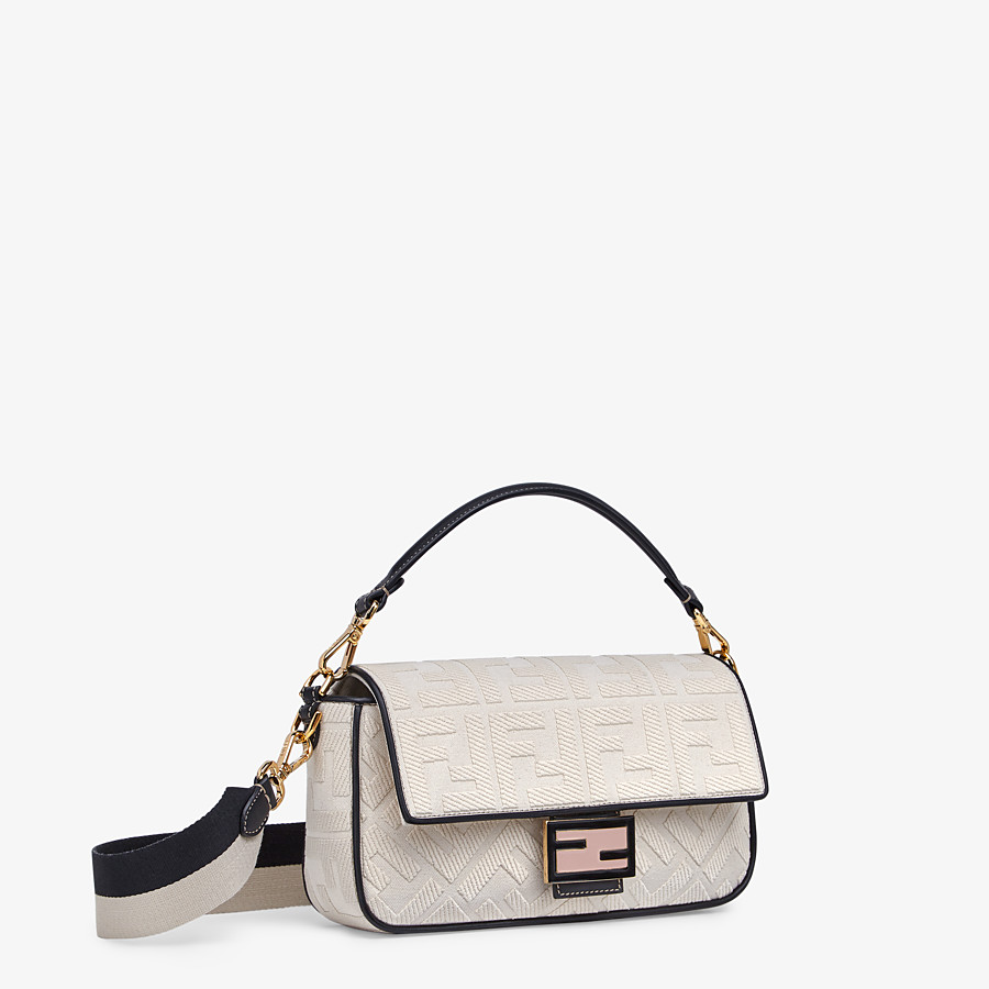 FENDI BAGUETTE - White canvas bag - view 2 detail