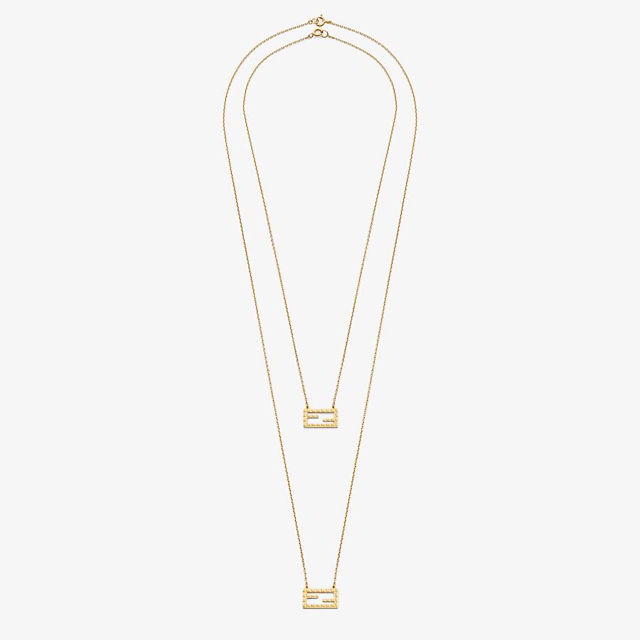 FENDI BAGUETTE NECKLACE - Gold-color necklace - view 1 detail