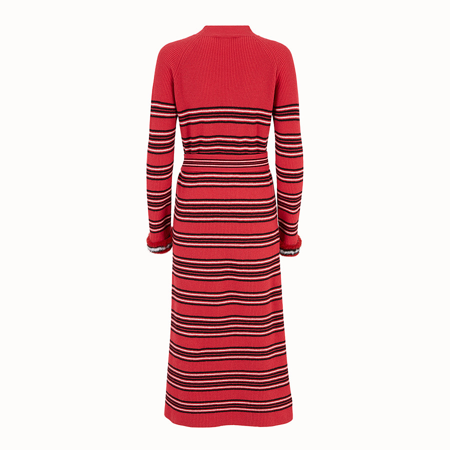 FENDI DRESS - Multicolour wool and cashmere dress - view 2 detail