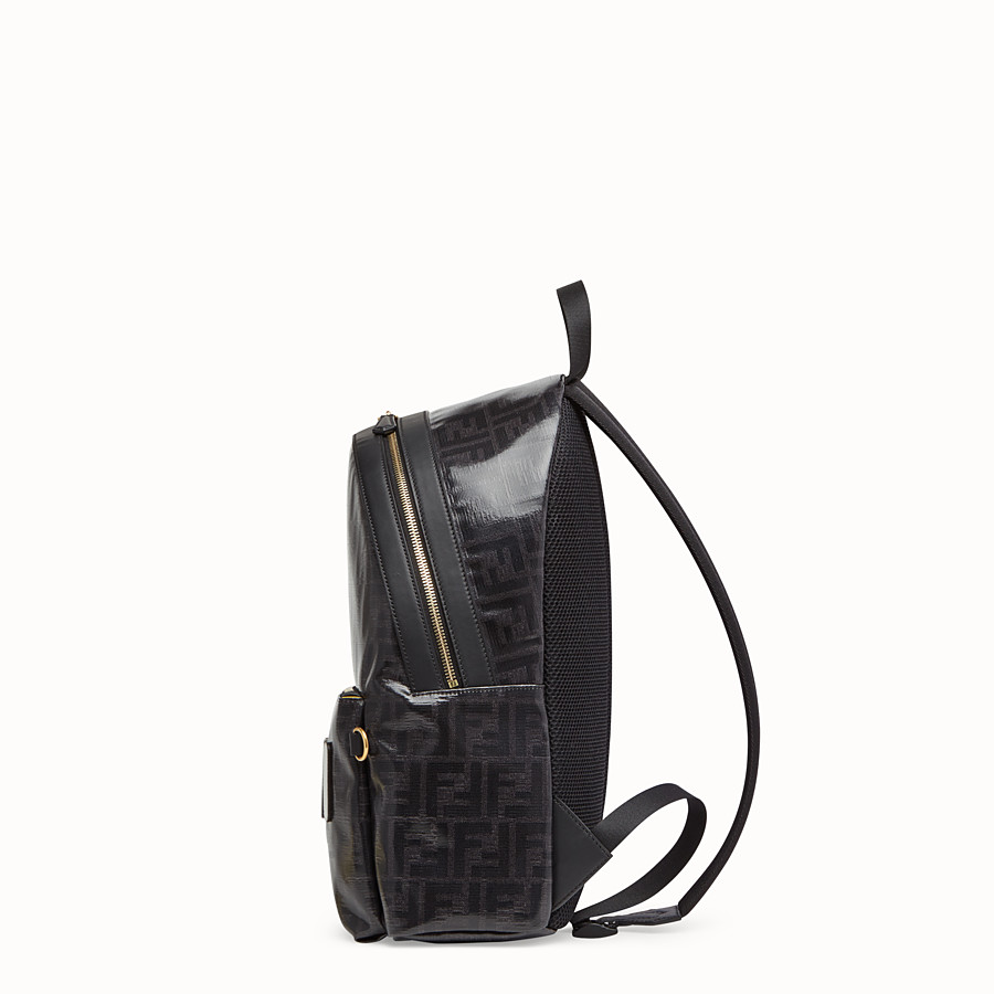 FENDI BACKPACK - Black fabric backpack - view 2 detail