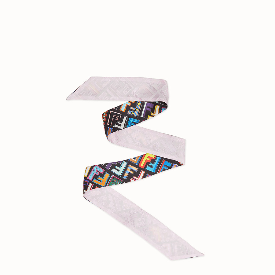 FENDI FUN FENDI WRAPPY - Multicolour silk bandeau - view 1 detail