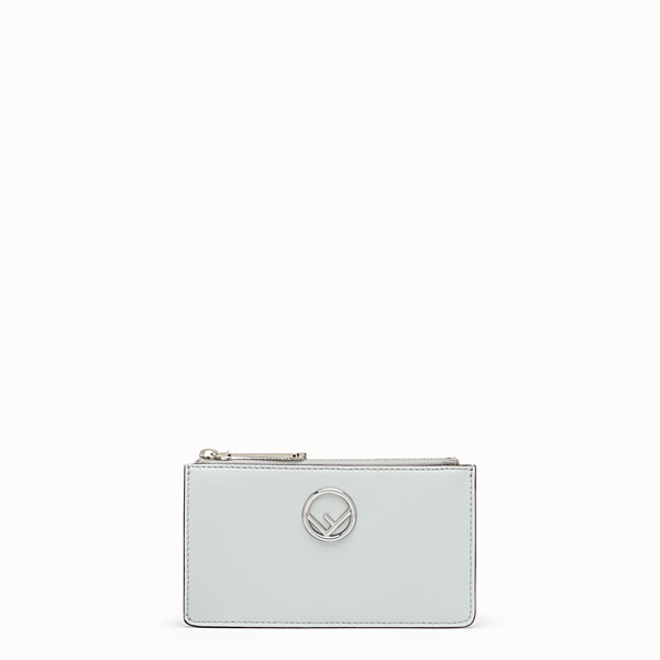 FENDI CARD POUCH - Grey leather pouch - view 1 small thumbnail