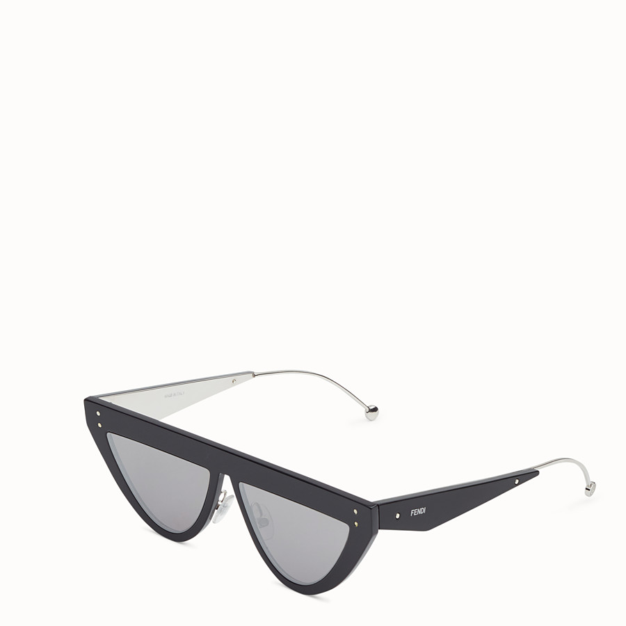 FENDI DEFENDER - Black sunglasses - view 2 detail