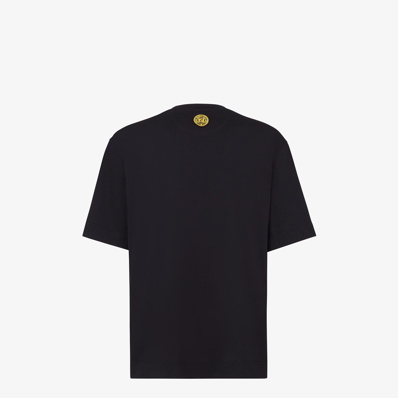 FENDI T-SHIRT - Black cotton T-shirt - view 2 detail