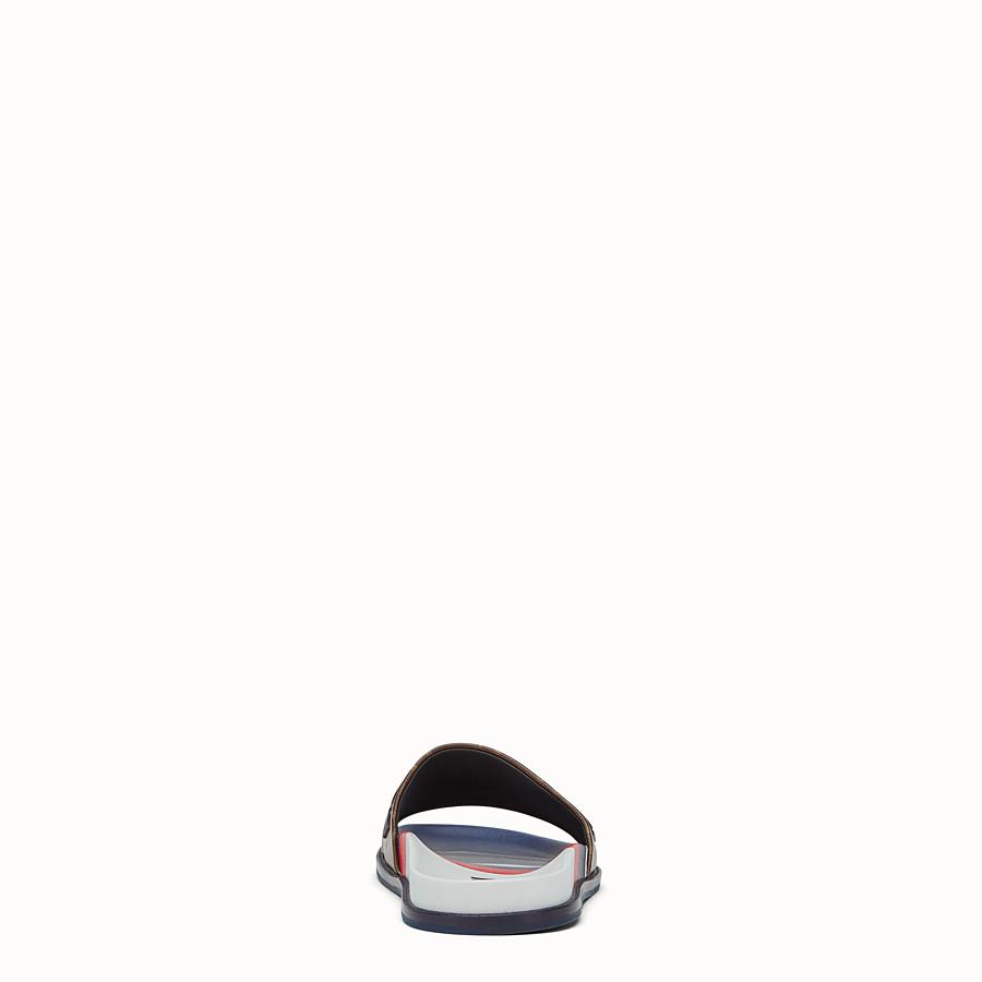 FENDI SLIDES - Multicoloured rubber Fussbet sandals - view 3 detail