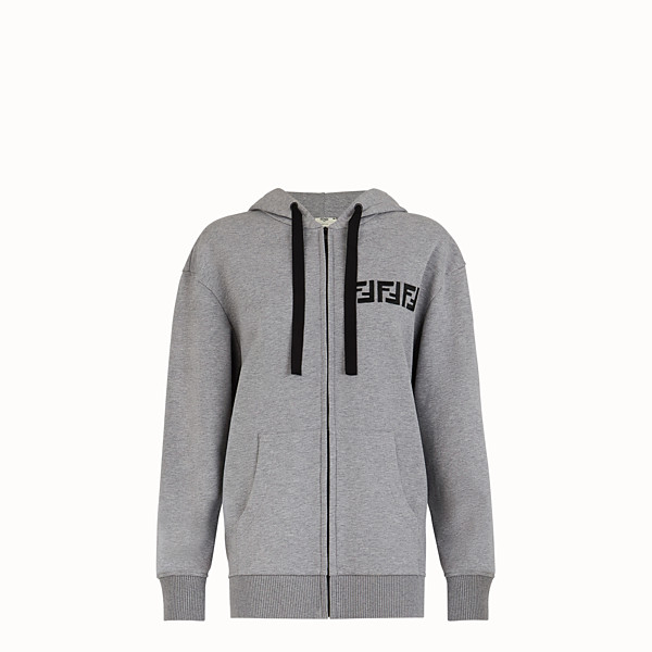 FENDI SWEATSHIRT - Grey cotton sweatshirt - view 1 small thumbnail