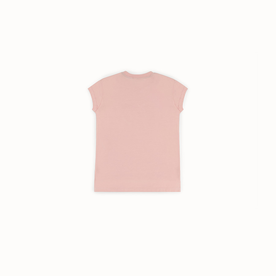 FENDI T-SHIRT - Pink cotton T-shirt - view 2 detail