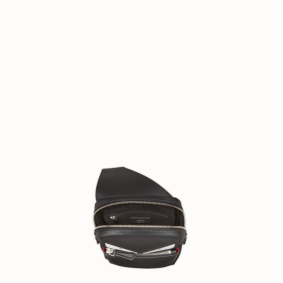 FENDI BELT BAG - Fabric and black leather satchel - view 4 detail