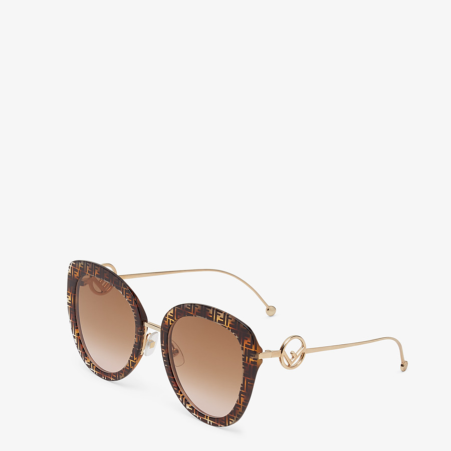 FENDI F IS FENDI - FF Havana acetate and metal sunglasses - view 2 detail