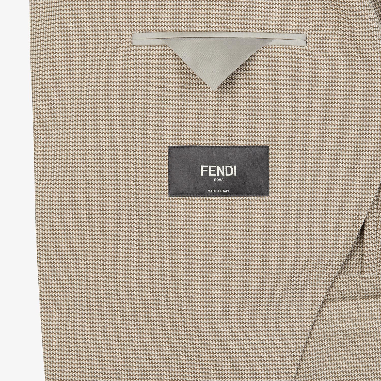 FENDI JACKET - Beige cotton blazer - view 5 detail