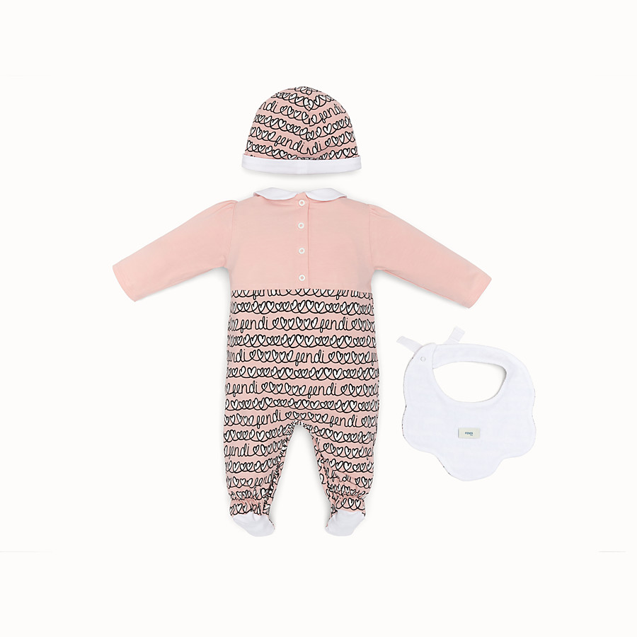 FENDI BABY GIRL KIT - Pink cotton kit - view 2 detail