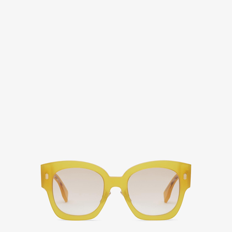 FENDI FENDI ROMA - Yellow acetate sunglasses - view 1 detail