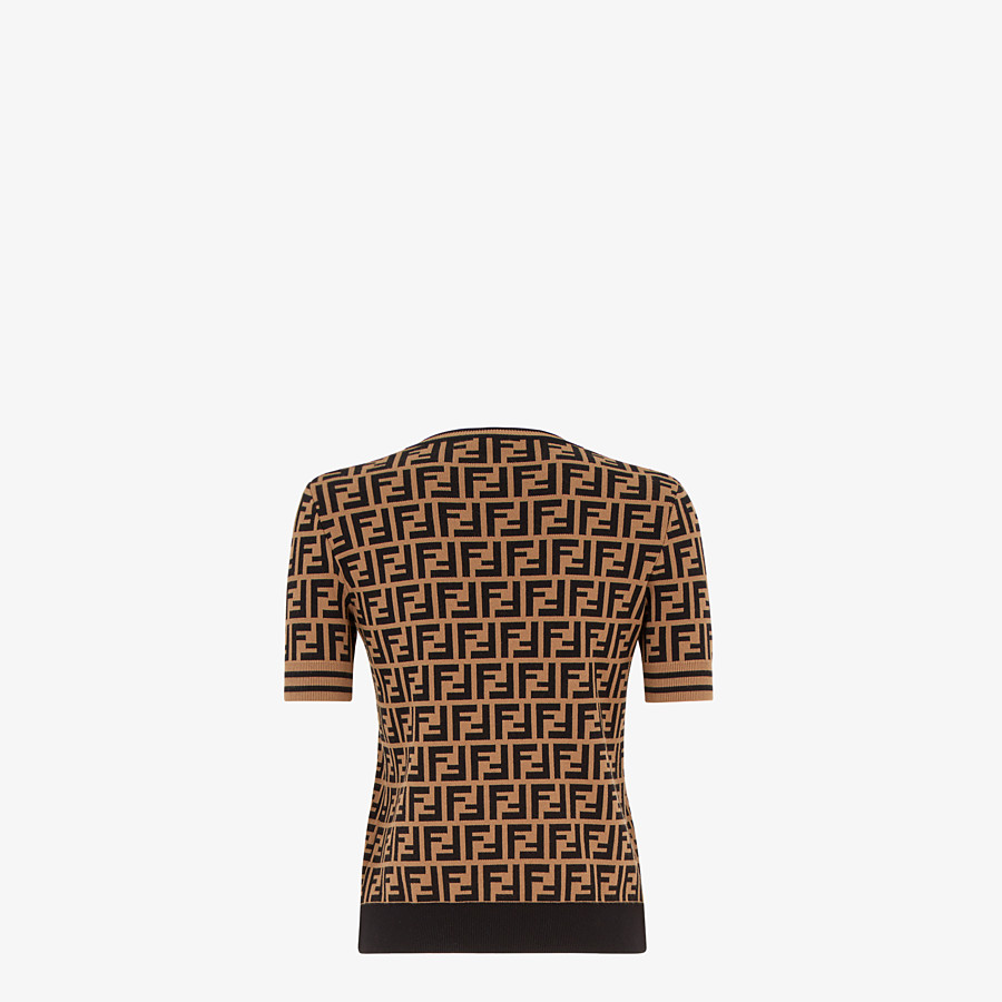 FENDI PULLOVER - Fabric FF motif jumper - view 2 detail