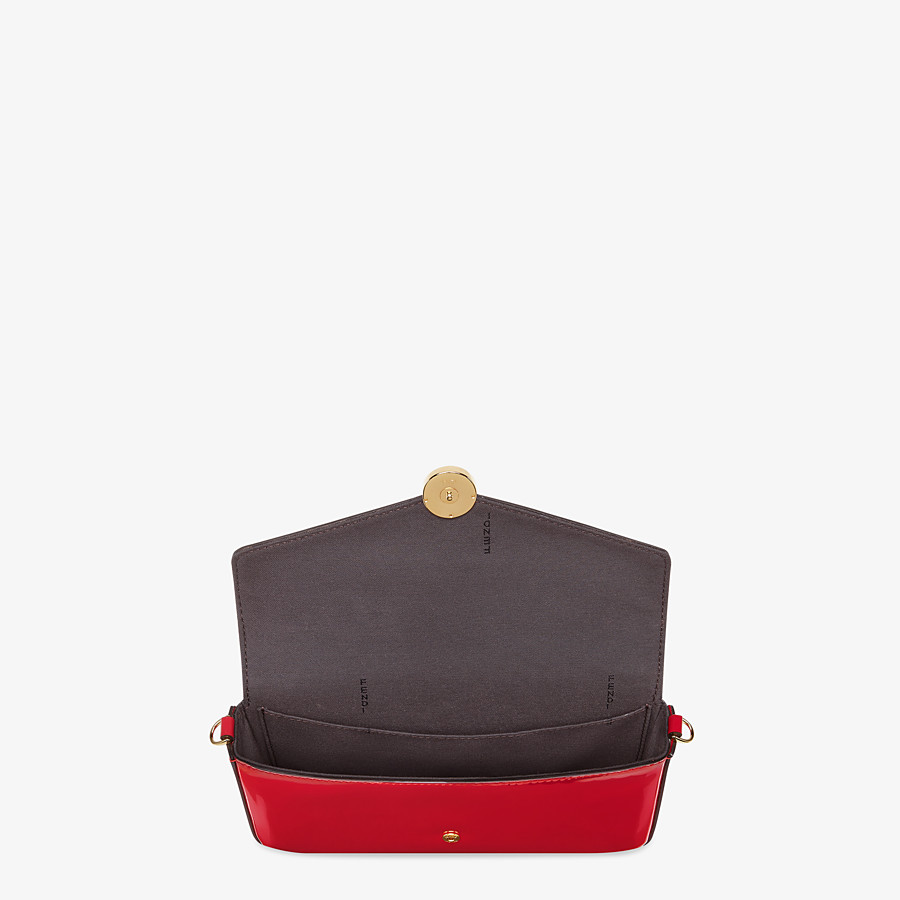 FENDI WALLET ON CHAIN WITH POUCHES - Mini bag in red patent leather - view 5 detail