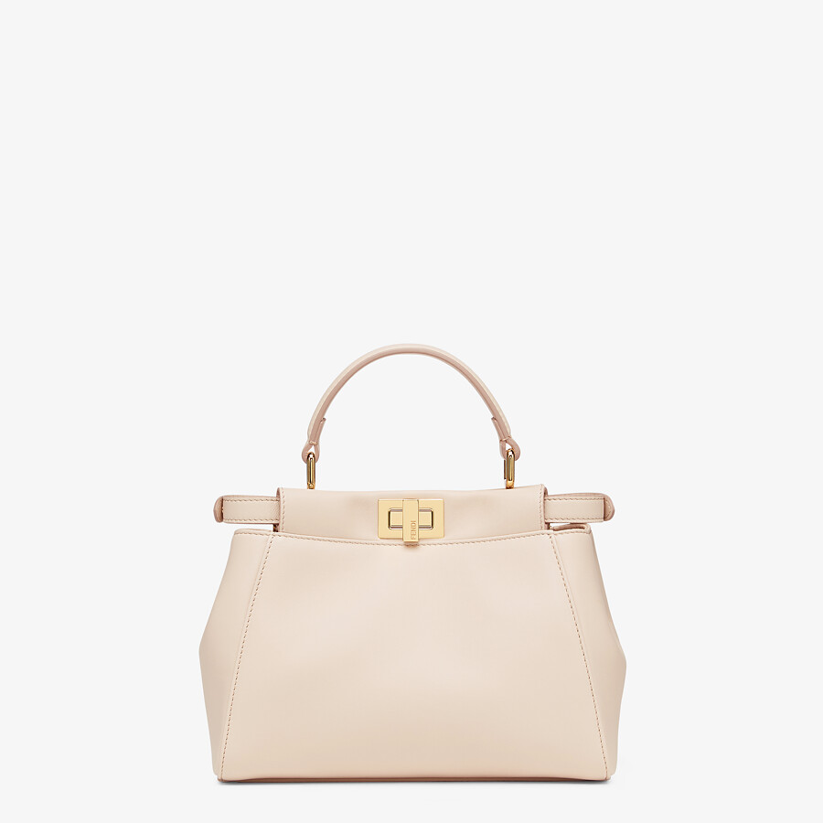 FENDI ICONIC PEEKABOO MINI - Pink nappa leather bag - view 3 detail