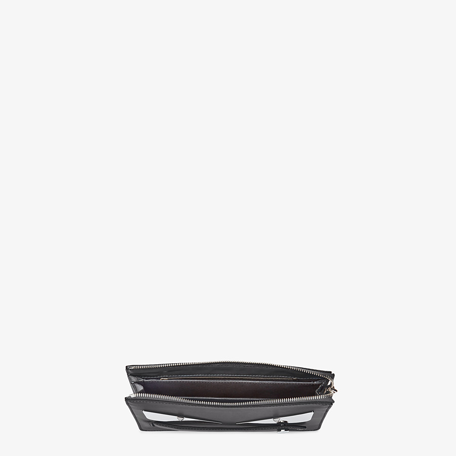 FENDI CLUTCH - Black leather pouch - view 4 detail
