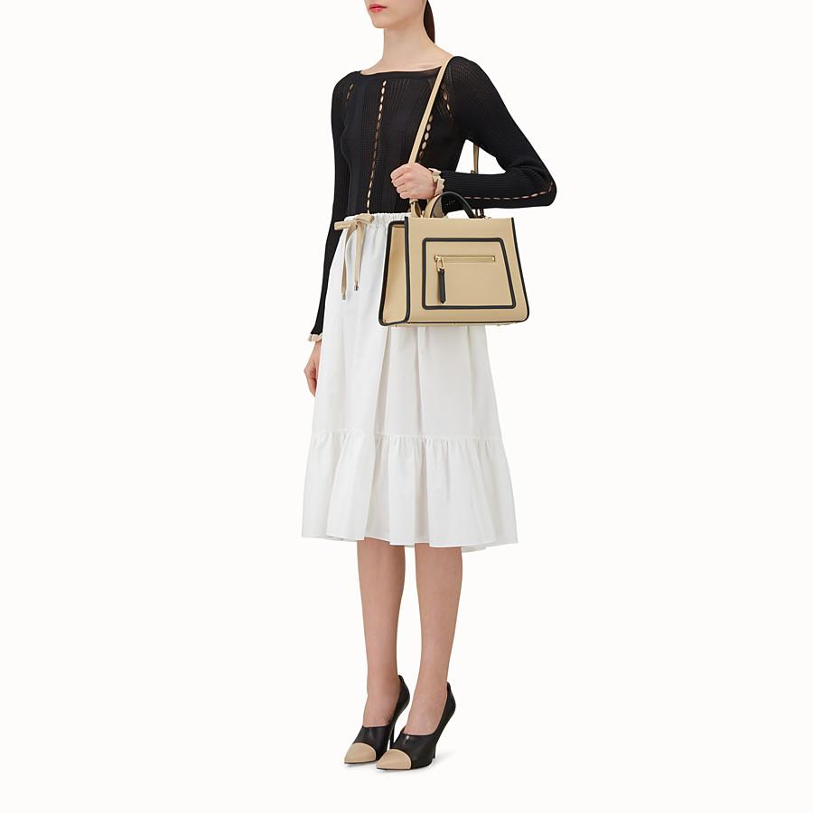 FENDI RUNAWAY SMALL - Beige leather bag - view 5 detail