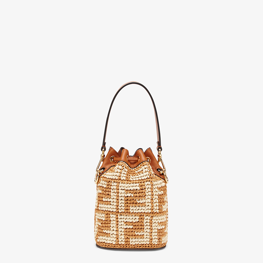 FENDI MON TRESOR - Brown raffia mini-bag - view 4 detail