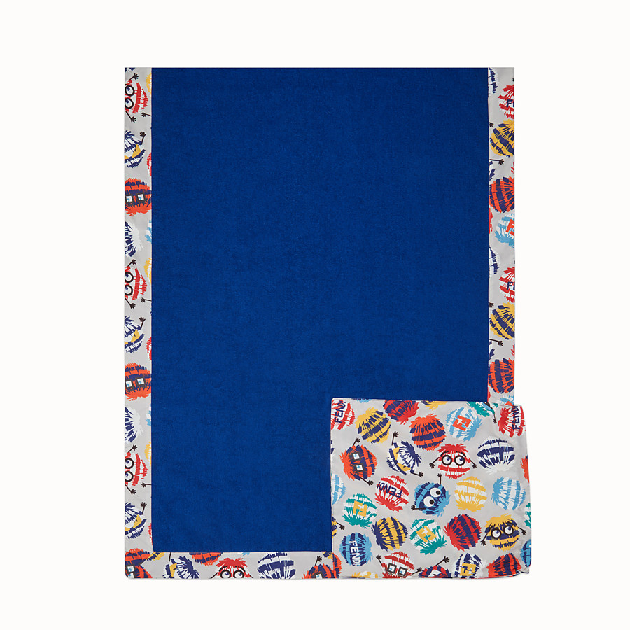 FENDI BEACH MAT - Blue and multicolour beach mat - view 3 detail