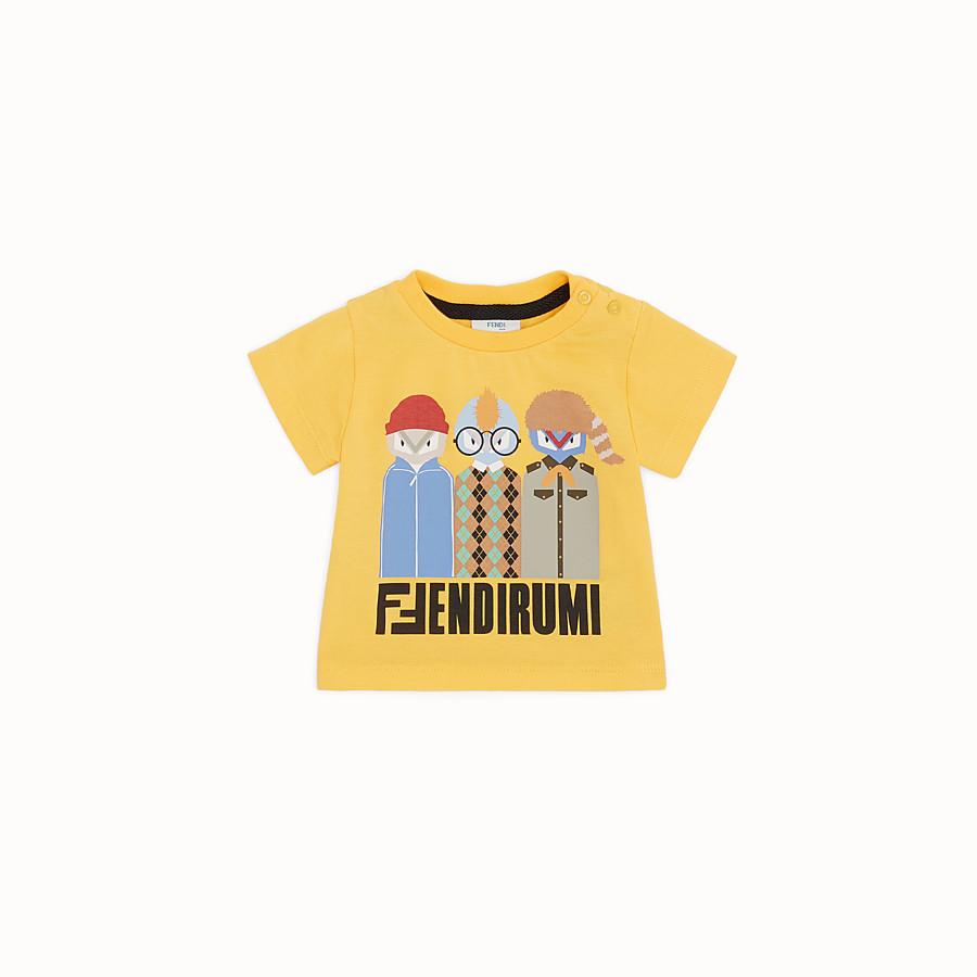 FENDI T-SHIRT - T-shirt in jersey giallo - vista 1 dettaglio