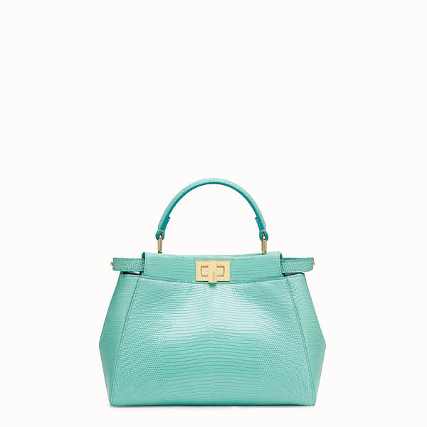 FENDI PEEKABOO ICONIC MINI - Borsa in lizard verde - vista 1 thumbnail piccola