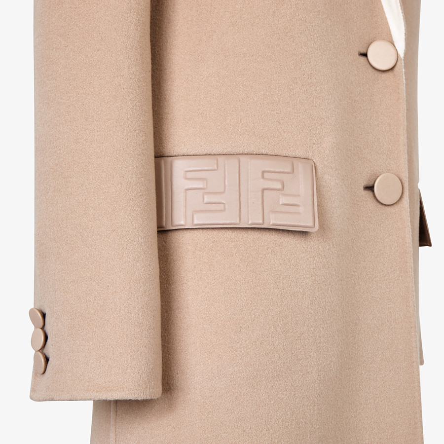 FENDI OVERCOAT - Beige cashmere coat - view 3 detail