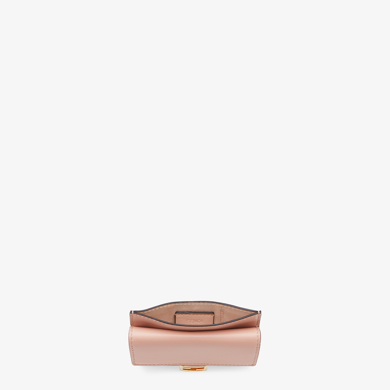 FENDI CARD HOLDER - Pink nappa leather card holder - view 4 detail