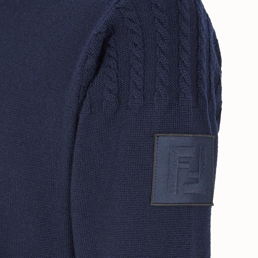 FENDI 毛衣 - 藍色羊毛毛衣 - view 3 detail