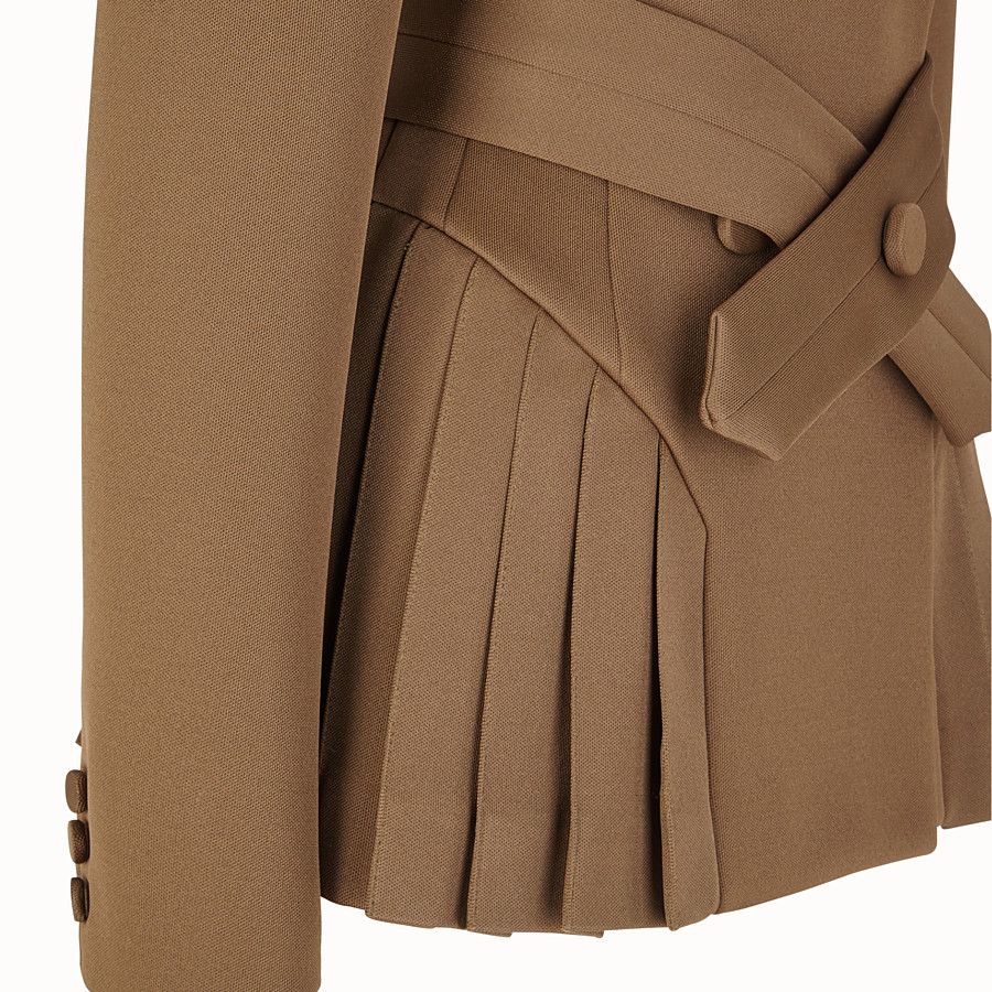 FENDI JACKET - Beige cotton jacket - view 3 detail