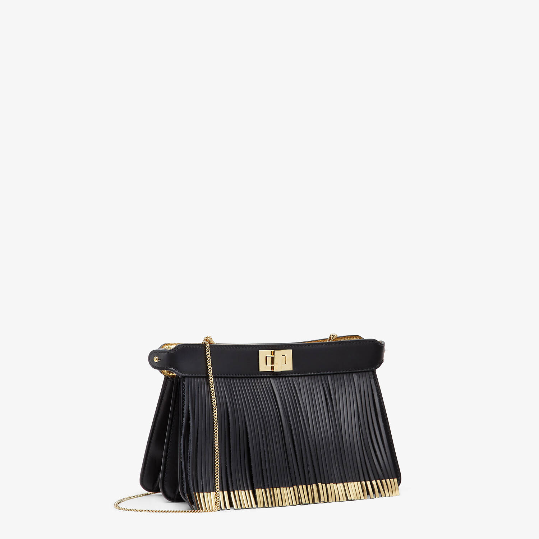 FENDI PEEKABOO I SEE U POCHETTE - Black leather bag with fringes - view 3 detail