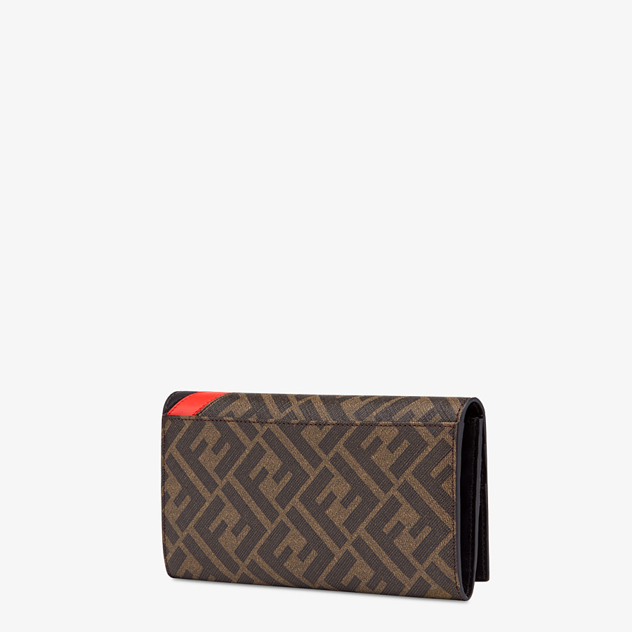 FENDI CONTINENTAL - Brown fabric wallet - view 2 detail