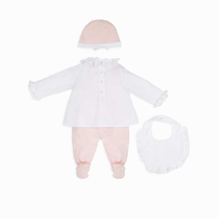 FENDI BABY KIT - Red and pink jersey and poplin kit - view 2 detail