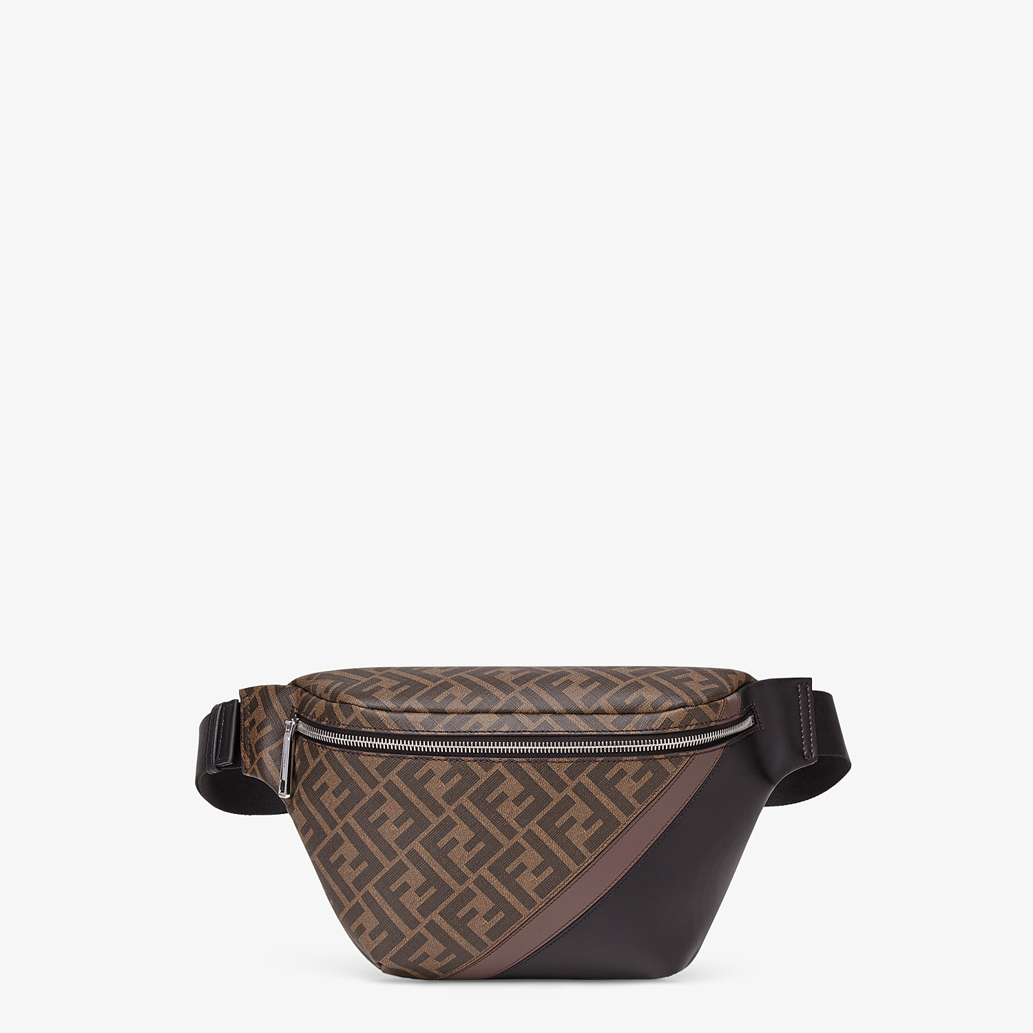 FENDI BELT BAG - Brown fabric belt bag - view 1 detail