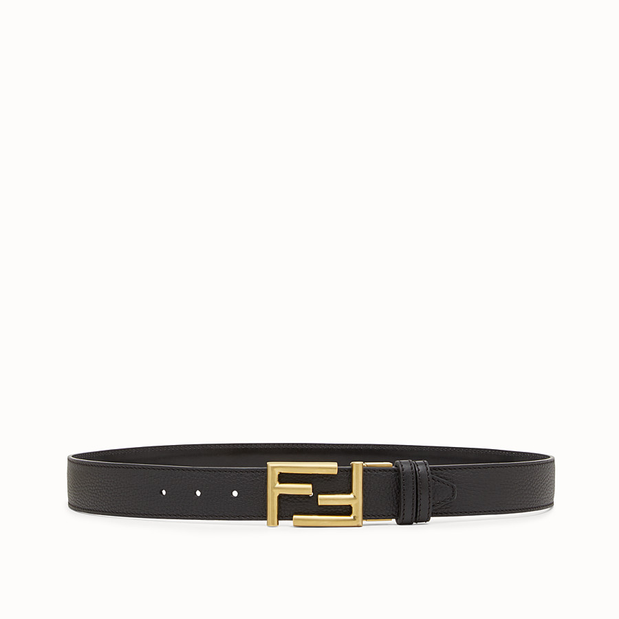 FENDI BELT - in Roman leather and black leather - view 1 detail