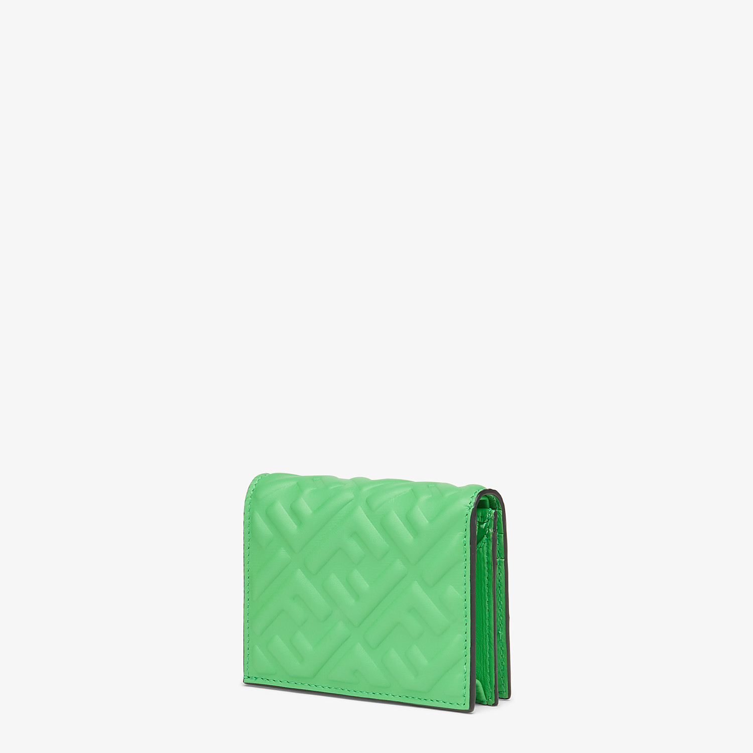 FENDI SMALL WALLET - Green nappa leather wallet - view 2 detail