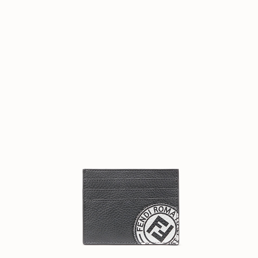 FENDI CARD HOLDER - Black leather card holder - view 1 detail