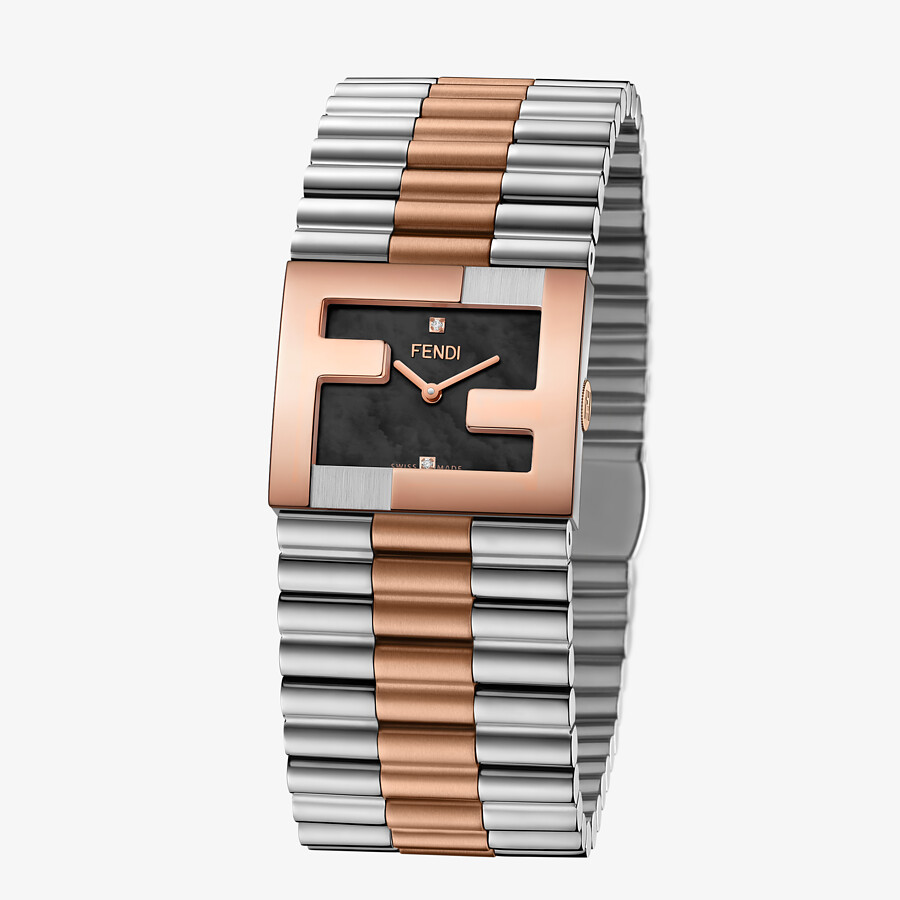 FENDI FENDIMANIA - 24 x 20 MM - Watch with FF logo bezel - view 2 detail