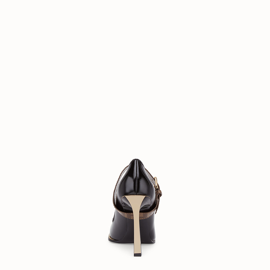 FENDI COURT SHOES - Mary Jane in glossy black neoprene - view 3 detail