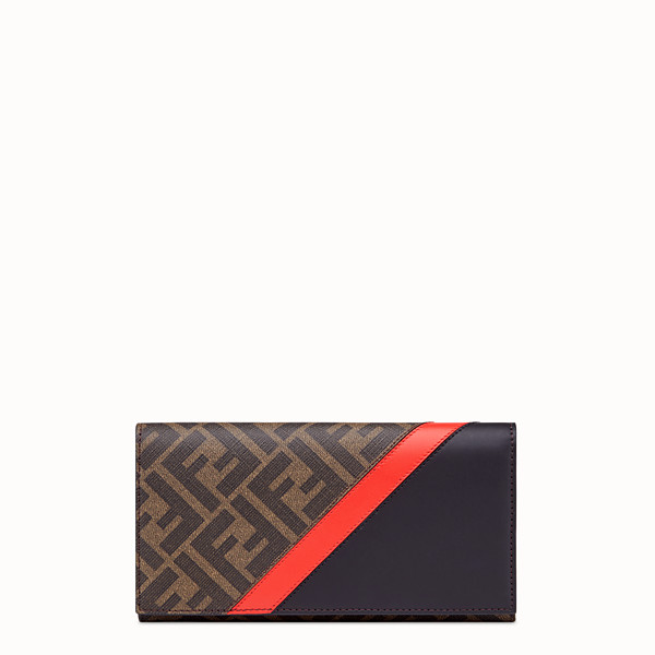 FENDI CONTINENTAL - Brown fabric wallet - view 1 small thumbnail