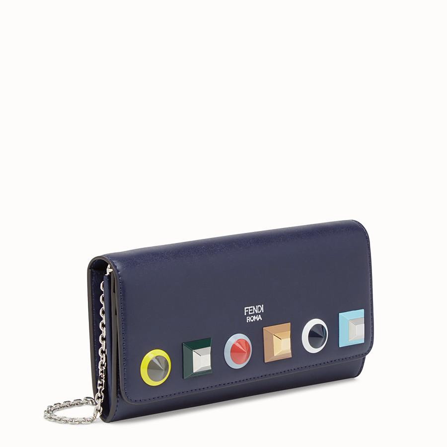 FENDI 체인 장지갑 - 블루 컬러의 가죽 스터드 지갑 - view 2 detail