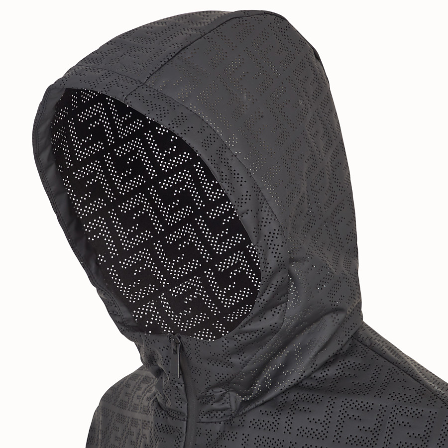 FENDI WINDBREAKER - Black cotton jacket - view 4 detail
