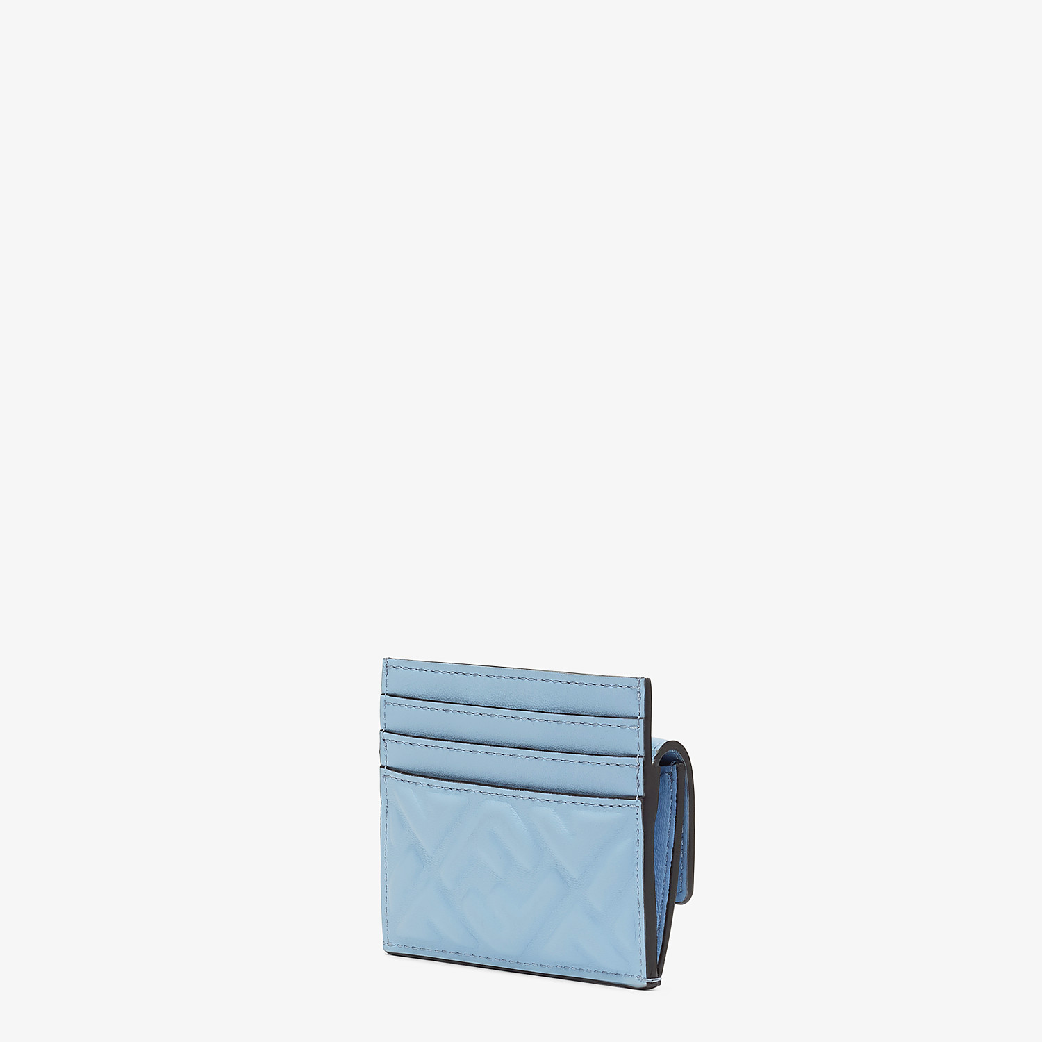 FENDI CARD HOLDER - Cardholder in light blue nappa leather - view 2 detail