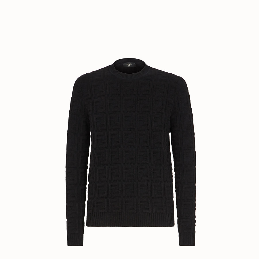 FENDI PULLOVER - Black fabric jumper - view 1 detail