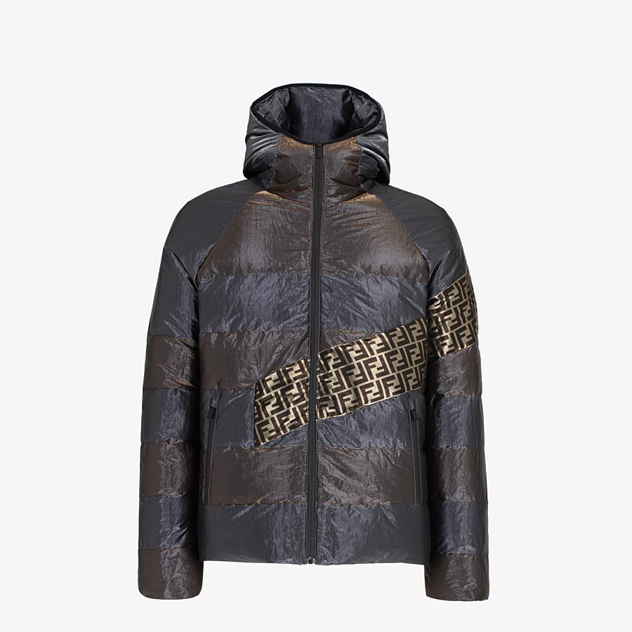 FENDI DOWN JACKET - Metallic tech fabric padded jacket - view 1 detail