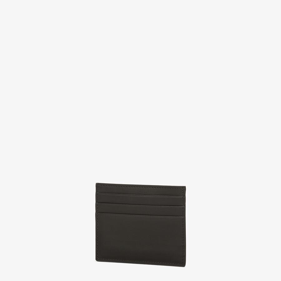 FENDI CARD HOLDER - Black leather card holder - view 2 detail