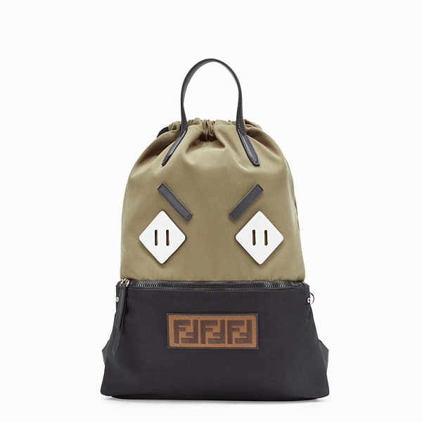 FENDI BACKPACK - Multicolour canvas backpack - view 1 small thumbnail