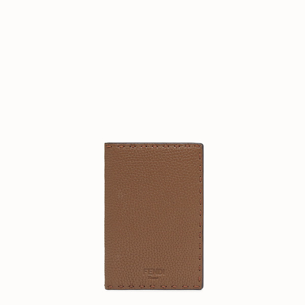 FENDI PASSPORT COVER - Brown leather passport cover - view 1 small thumbnail
